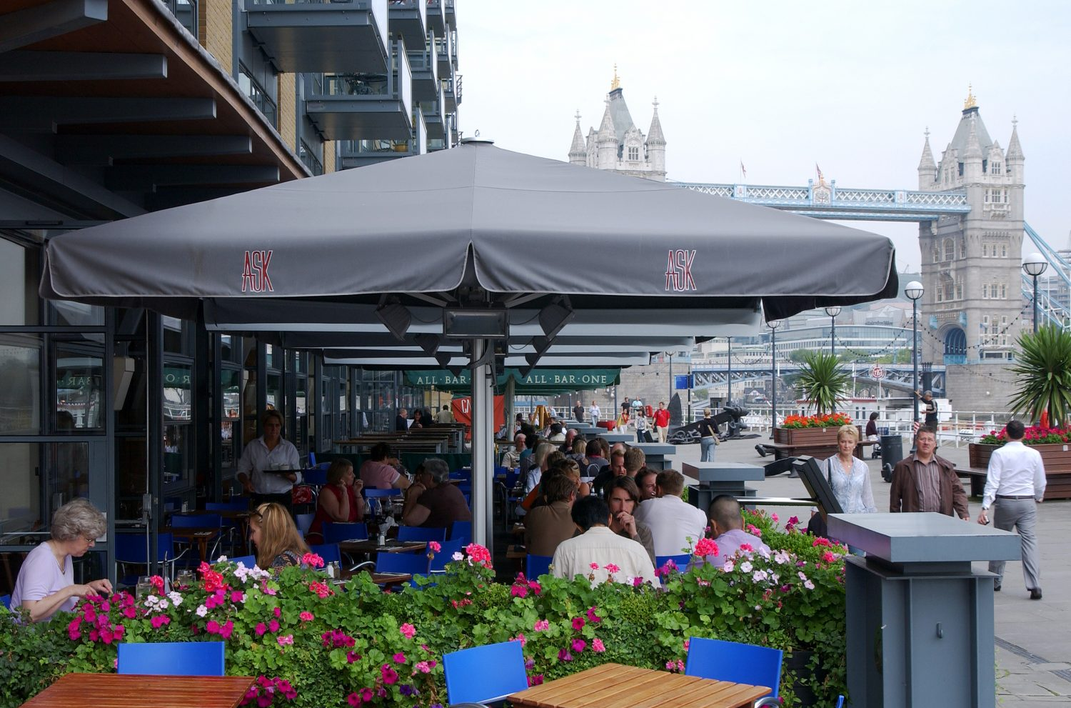 Butlers Wharf ASK Restaurant Giant Parasols