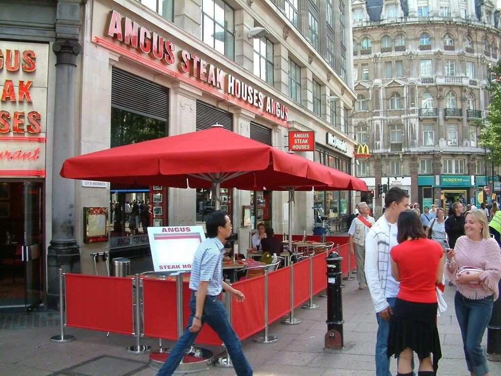 Angus Steakhouse Leicester Square Giant Parasols Screenings