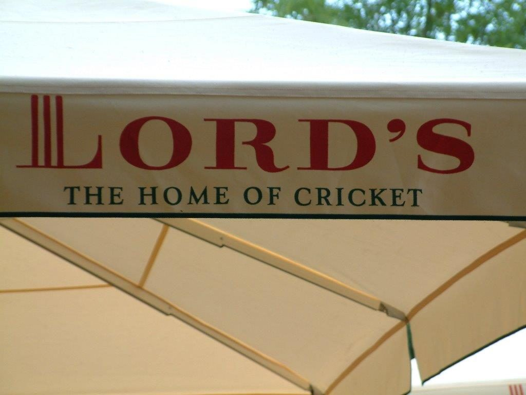 Lord's Cricket Ground Giant Parasol Screen Printed