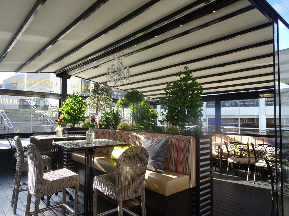 Ebony Lounge, Pergotex Fixed Structure, Durham