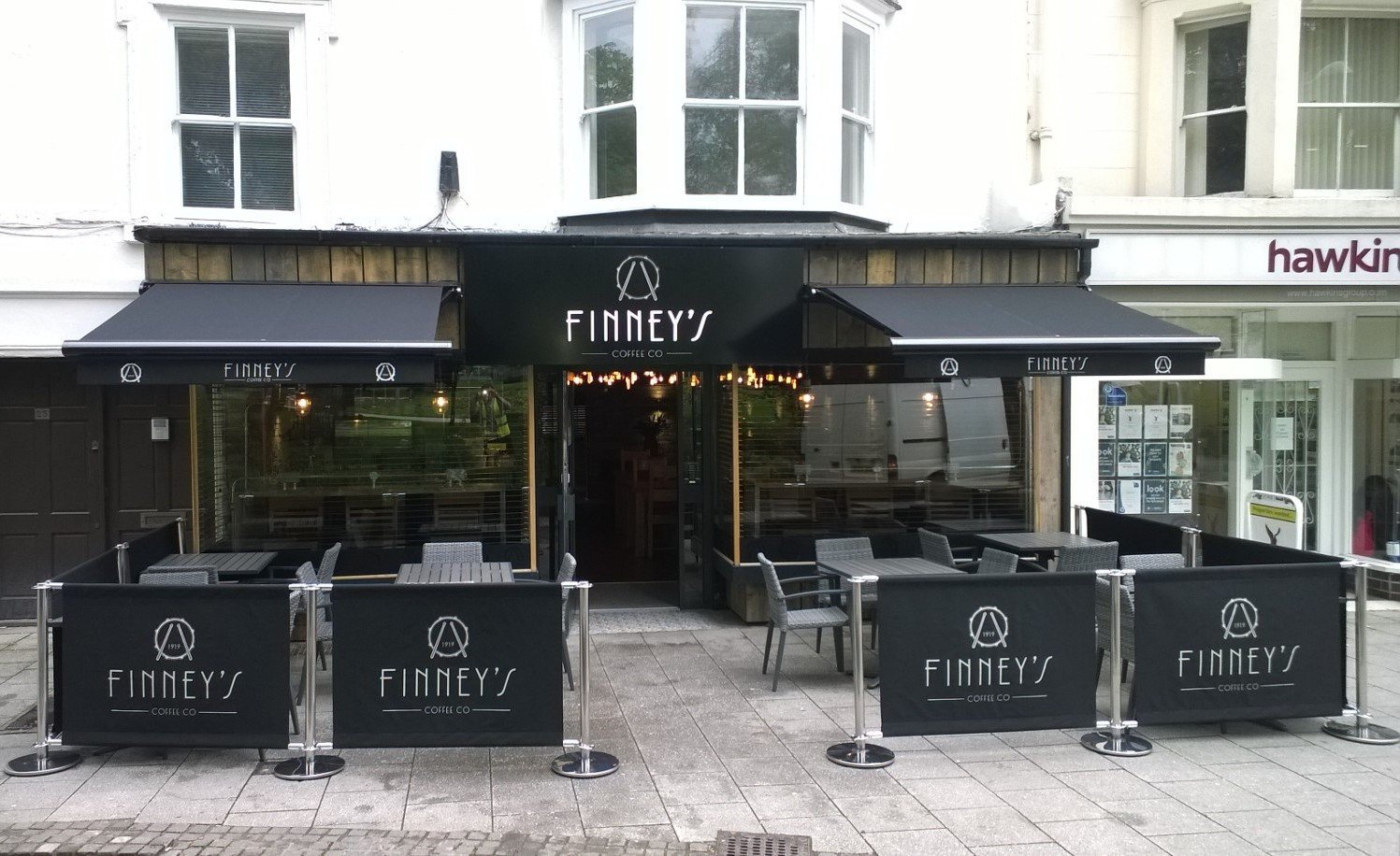 Finney's Coffee Company: Awnings and Screens