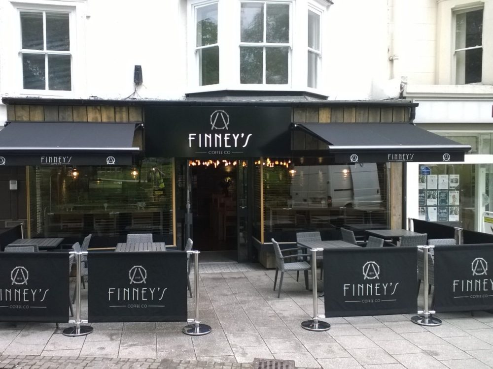 Finney's Coffee Co Coventry - Awnings and Screening