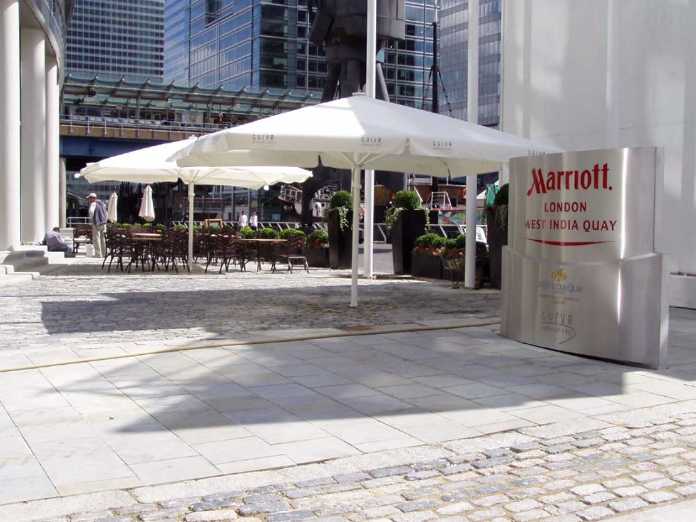 Marriot Hotel West India Quay London A4 Parasol