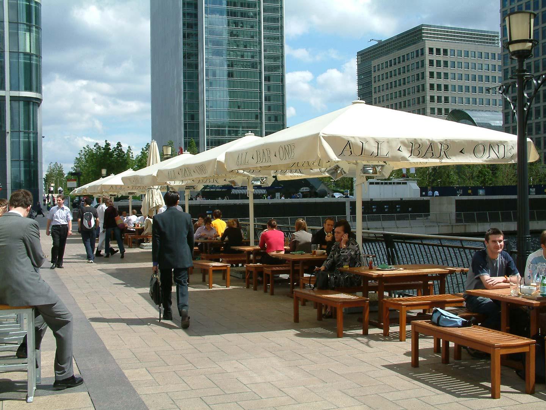 All Bar One Canary Wharf Indigo Awnings