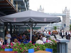 ASK Restaurant Butler's Wharf Giant Parasols