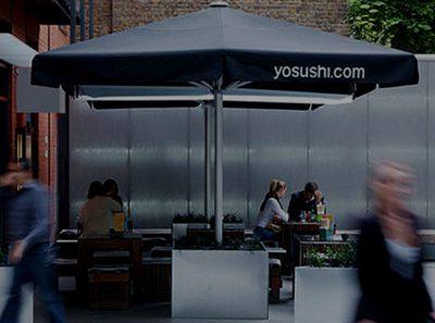 Yo Sushi A4 Parasols